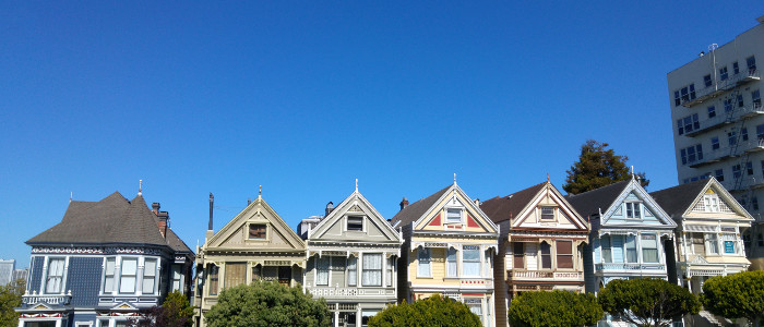 San Francisco The Painted Ladies Alamo Square